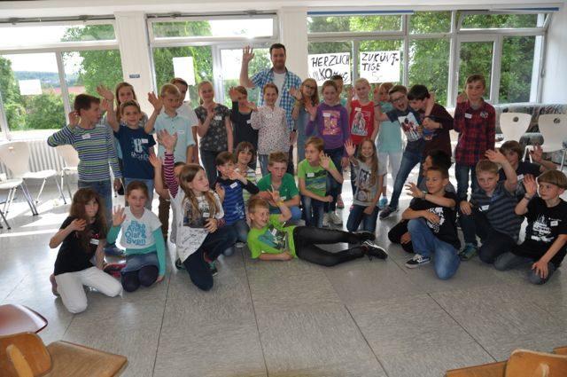 Hallo WBG: Die Klasse von Herrn Köster. (Foto: Lügger/SMMP)