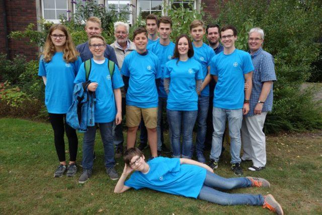 Glückliche Teilnehmer am Tag der Chemie 2016 (Foto: Weinsheimer/SMMP)