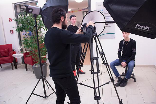 Foto-Shooting im Seniorenzentrum
