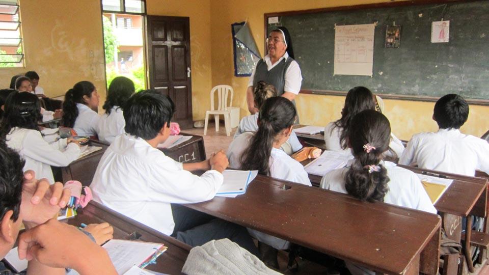 Schulunterricht in Santa Cruz (Foto: SMMP)