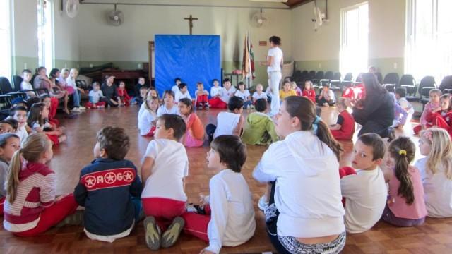 Unterricht an unserer Schule in Pomerode.