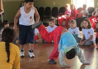 Capoeira-Unterricht an unserer Schule in Pomerode (Foto: SMMP/Meilwes)