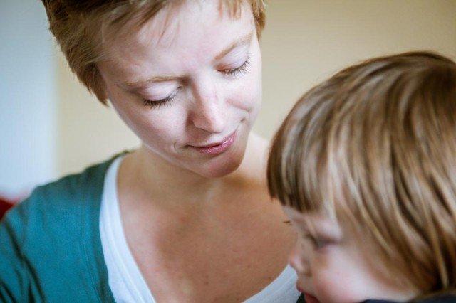 Mutter und Kind im Julie-Postel-Haus. (Foto: Beer)