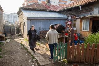 Familienbesuche in Bacau. (Foto: Achim Pohl)