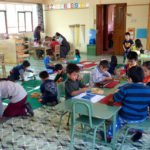 """Grüne Klasse (3-6-jährige), Montessori-Kindergarten und -Grundschule ""Kinderhaus Santa Maria Magdalena Postel"", Cochabamba, Departamento Cochabamba, Bolivien; Foto: Florian Kopp/SMMP"