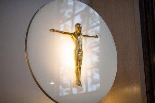 Kosmischer Christus in der Dreifaltigkeitskirche des Bergklosters Bestwig (Foto: SMMP/Beer)