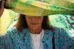 Grenzmuseum Schifflersgrund: Sr. Leila mit farbenfrohem Sonnenschutz (Foto: SMMP/Beer)