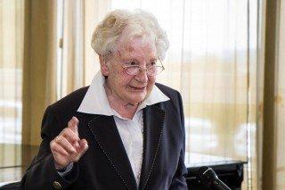 """Maria Kreilkamp berichtete aus der Geschichte der Placidagemeinschaft in Bestwig: """"In die erste Versammlung geriet ich eher aus Versehen."""" Foto: SMMP/Bock"""