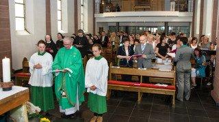"""Rektor Bernd Kucklick sagte in seiner Predigt: """"Jeder Gottesdienst mit dem Bergkindergarten ist ein Glaubenszeugnis. Foto: SMMP/Bock"""