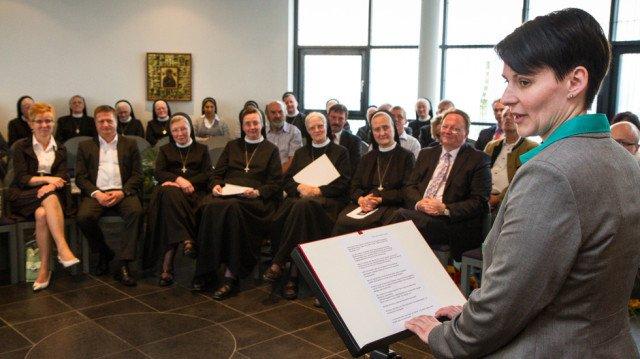 Andrea Pukatzki verspricht, die Einrichtung im Geiste der Ordensgründerin weiterzuführen. Foto. SMMP/Bock