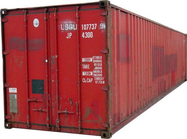 Ein 40-Fuß-Container: Platz für 26 Tonnen nützlicher Sachen