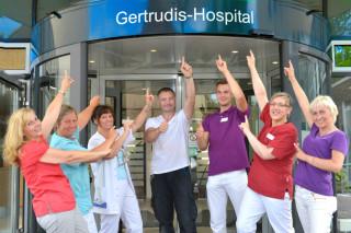 Nach einem Jahrhundert befindet sich das Gertrudis-Hospital in gesundem Zustand. Foto: KKRN / Günther Schmidt