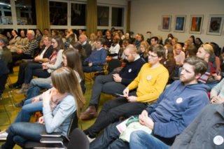 Voller Saal: Groß ist das Interesse an der Podiumsdiskussion. Foto: SMMP/Ulrich Bock